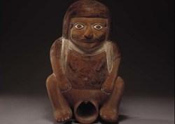 Cerámica en exhibición en Sala Erótica del Museo Larco en Lima, Perú