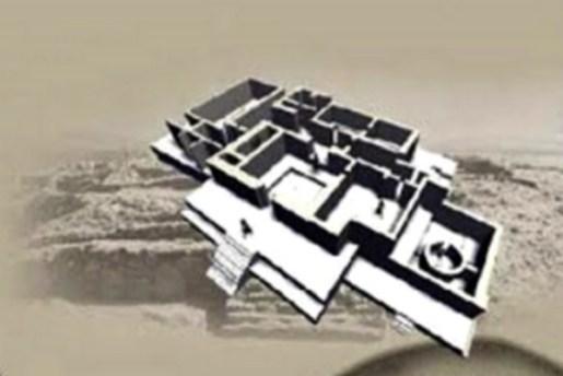 Templo del altar circular. Estructura de forma piramidal, es la segunda en dimensiones de la parte baja de la Ciudad de Caral.