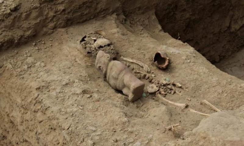 Descubren cementerio de la elite moche y nuevo templo huari en norte de Perú