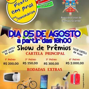 festa dos seminários show de prêmios bingo ucdb av tamandaré