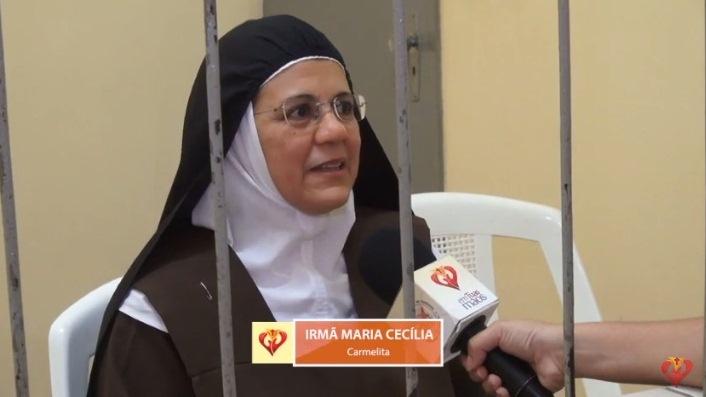 Irmã Maria Cecília, em entrevista para o Programa Em Tuas Mãos
