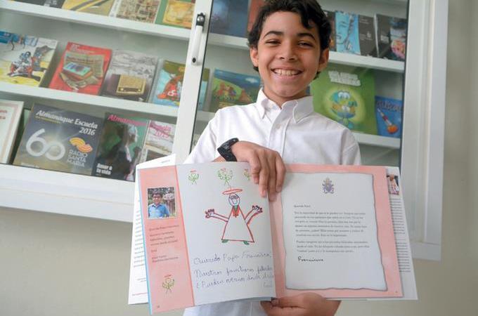 El Papa responde carta a un niño dominicano