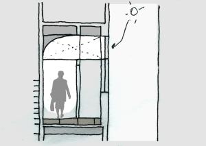 seccion arquitectura lucernario