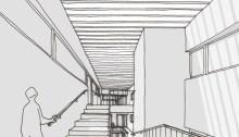arquitectos-edificio-patio-cubierto-corrala-galeria-vigo-viviendas-arquitectura
