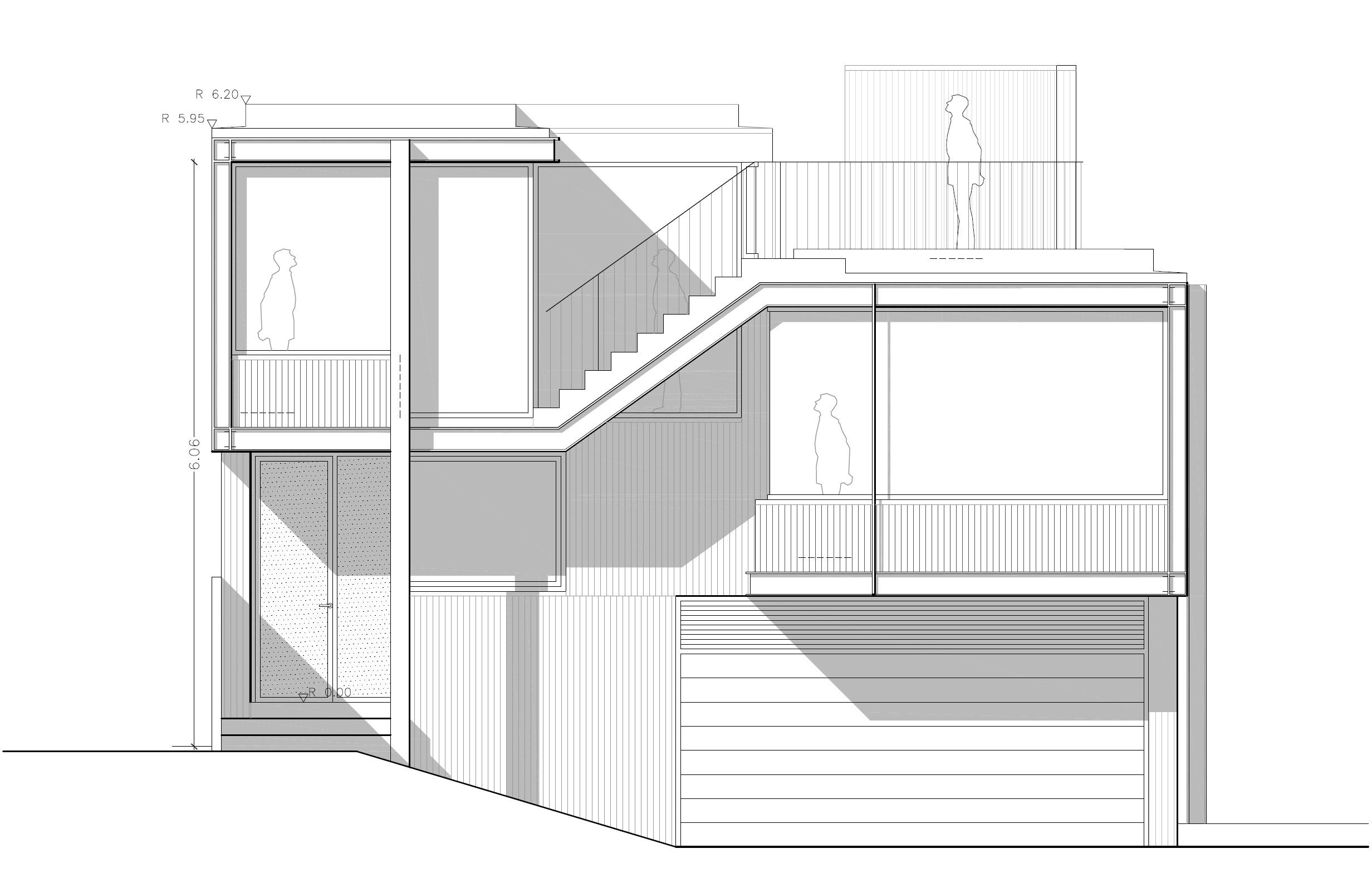 Anteproyecto de vivienda unifamiliar en s marti o moa a for Estructura arquitectura