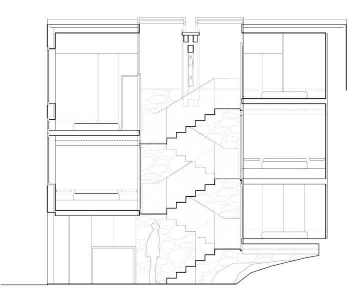 seccion-curras-dormitorios-hostel-arquitectura-arquitecto-pontevedra