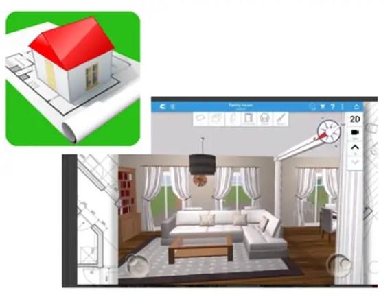 Aplicación para plano Home Design 3D