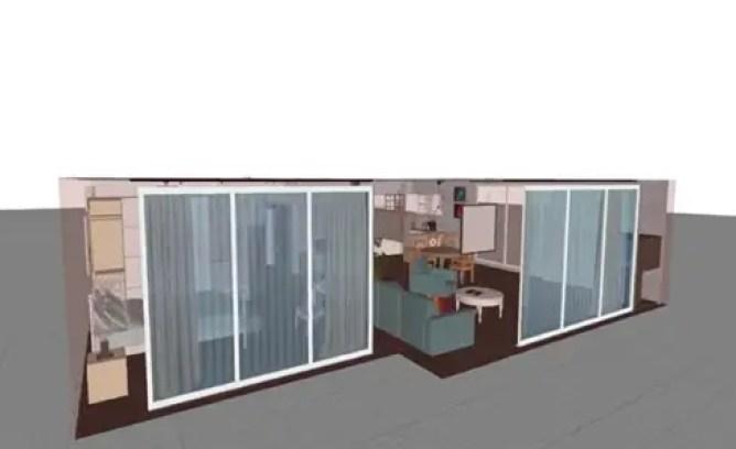 Aplicación para plano Sueco diseño de hogar
