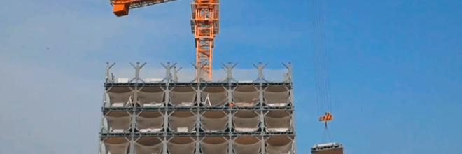 Construcción de un edificio de 30 pisos en 360 horas