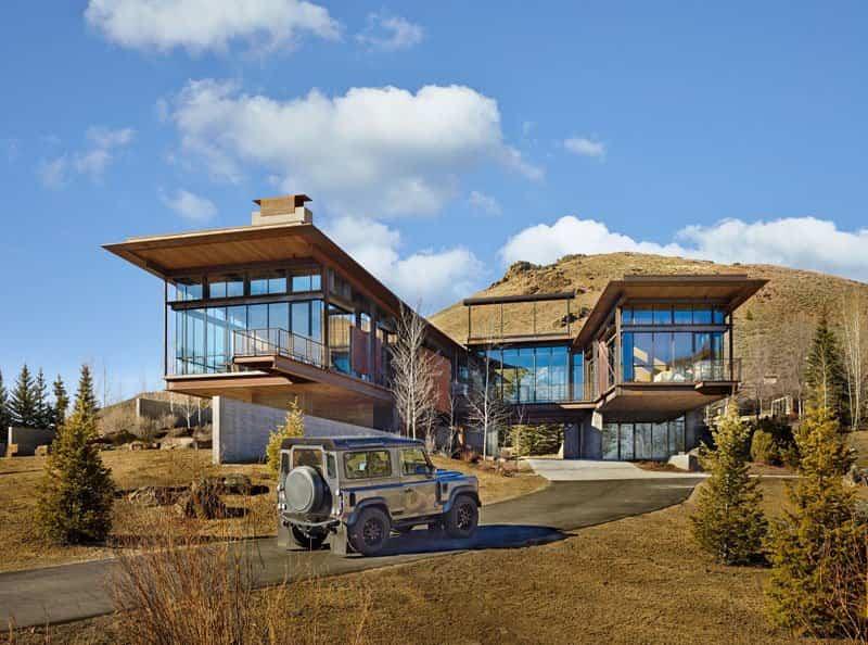 El Diseño De Esta Moderna Casa De Montaña Está Lleno De