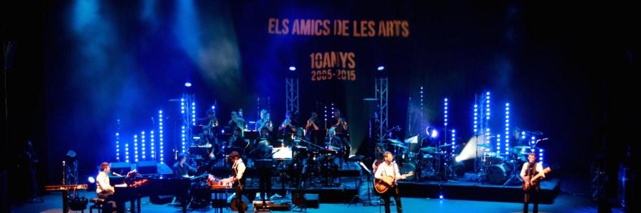"""Diseño de iluminación concierto aniversario 10 años """"Els Amics de les arts"""""""
