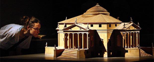 Maqueta de la Villa Rotonda, incluida en la exposición Palladio, el arquitecto (1508-1580)