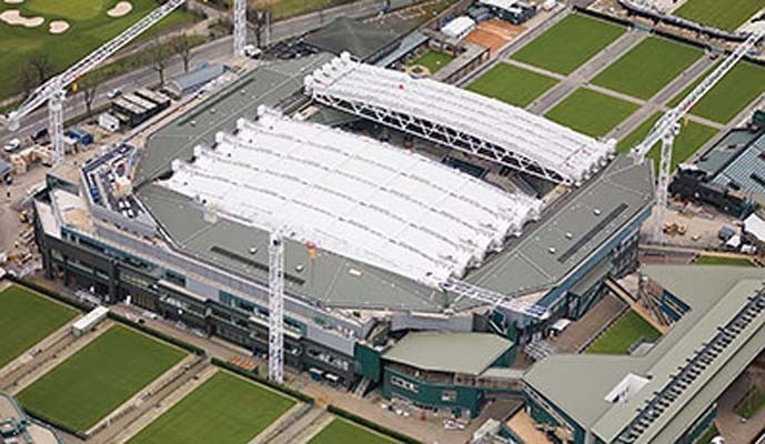 Nueva cubierta Gore Tenara en Wimbledon, diseño de HOK Foto: Gore Tex