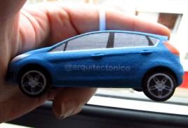 El lateral de mi cochecito 3D impreso con mi Twitter @arquitectonico