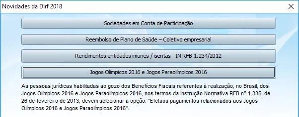 DOWNLOAD E CONFIGURAÇÕES DIRF 2018 Jogos-Ol%C3%ADmpicos-Novidades-DIRF-2018