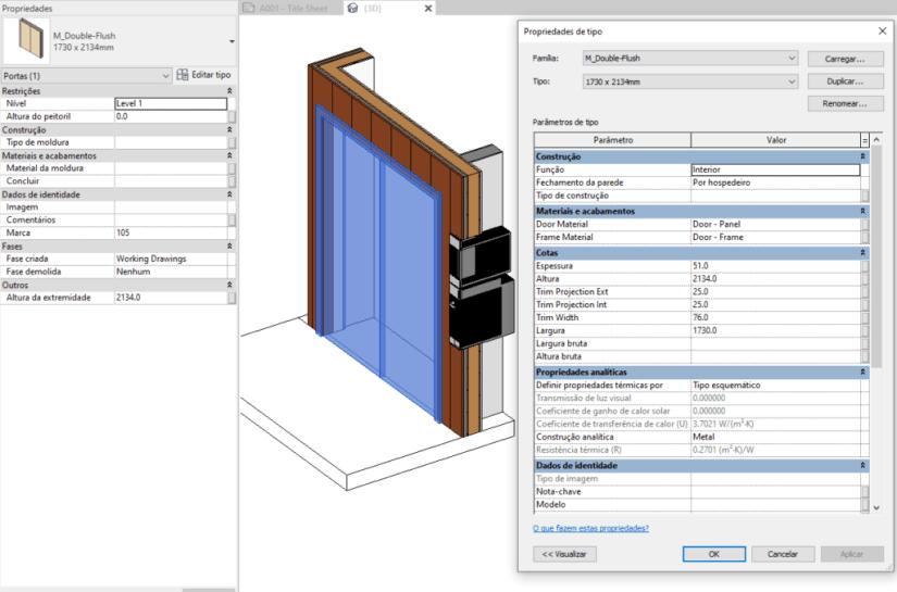 objeto parametrico porta