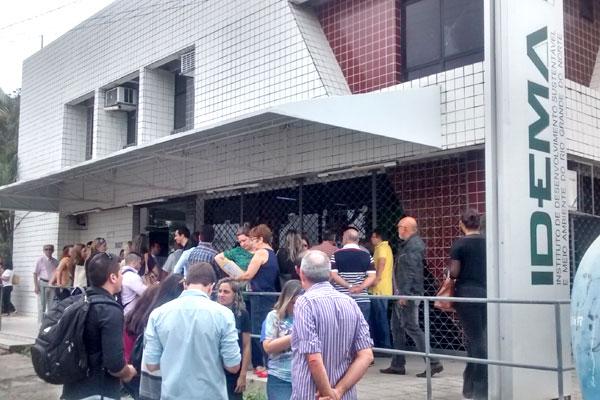 Funcionários do Idema foram proibidos de entrar na sede do órgão durante a manhã de hoje