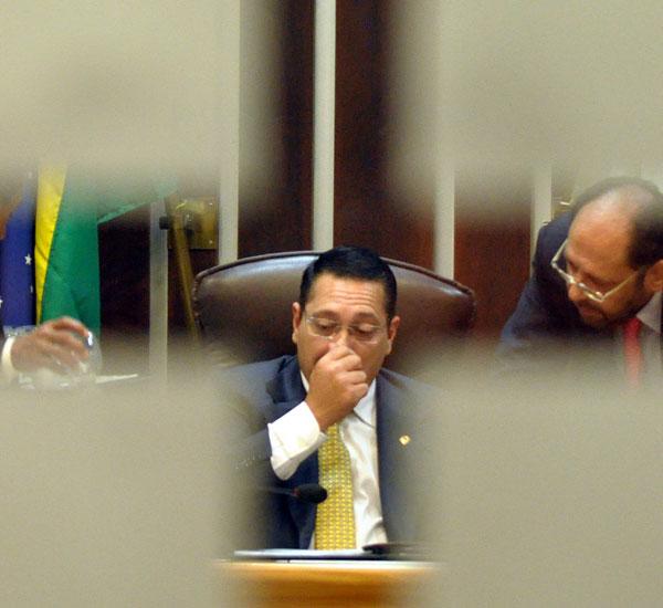 O fotógrafo Magnus Nascimento está na final com uma imagem do presidente da Assembleia Legislativa, Ezequiel Ferreira, publicada na capa da TN em 25 de fevereiro