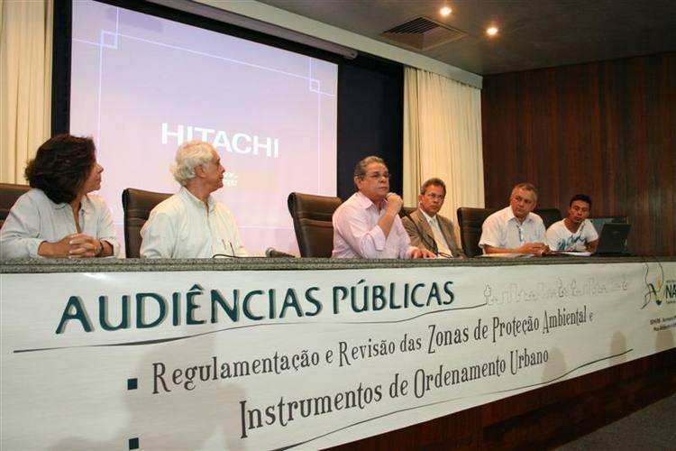 Audiência pública de regulamentação e revisão de proteção ambientais e instrumentos de ordenamento urbano.