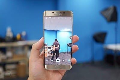 aplicativo da câmera Samsung Galaxy S7