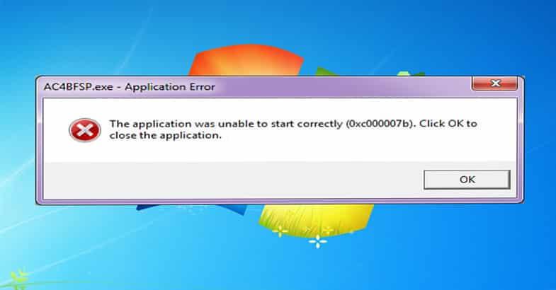 Corrigir o erro aplicativo não conseguiu iniciar (0xc000007b) 2018 6