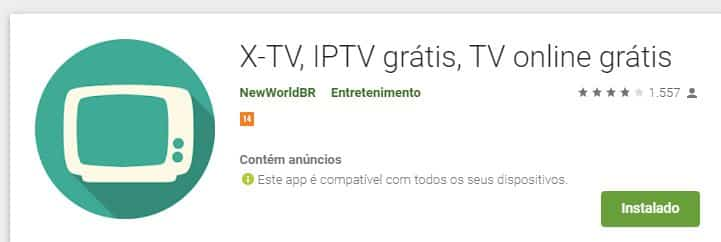 X-TV: Aplicativo De TV Online Rival do Brasil Tv New 2