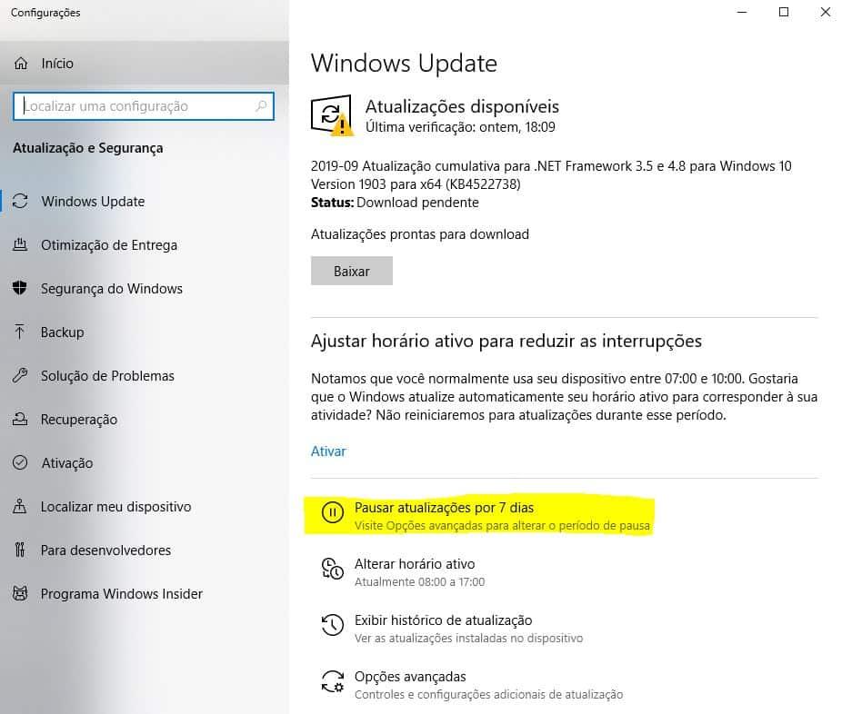 Windows Update: Corrigir erros de atualização Windows 10 2