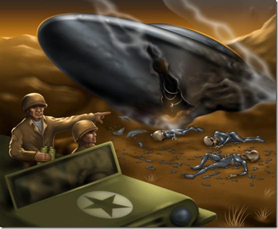 roswell ufo thumb Ex agente da CIA afirma que disco voador de Roswell era alienígena