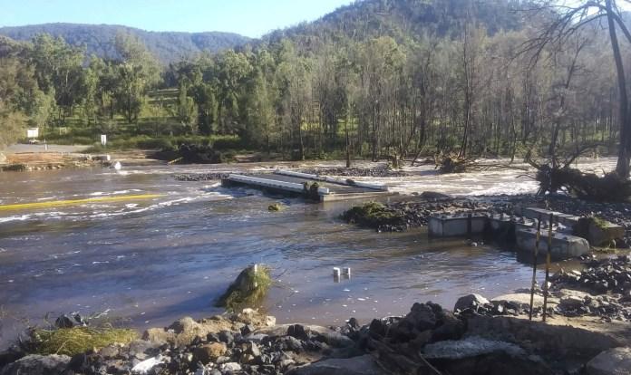 Mann River causeway washed away