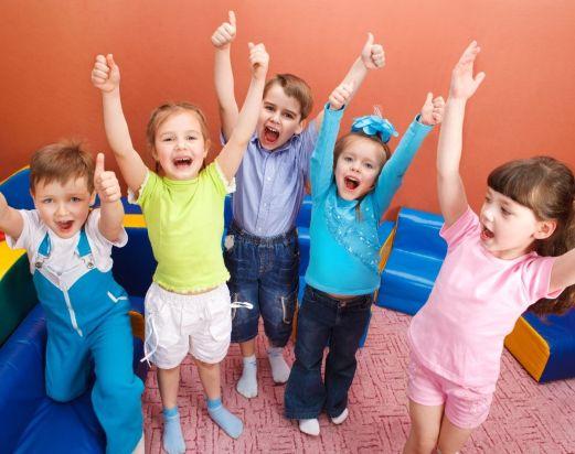 Children enjoying playgroup fun
