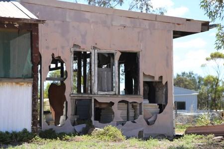 Damaged building - Asbestos awareness