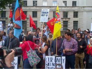 demo anti turki di london