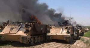 Tank_Tank_Saudi_Hangus_Terbakar