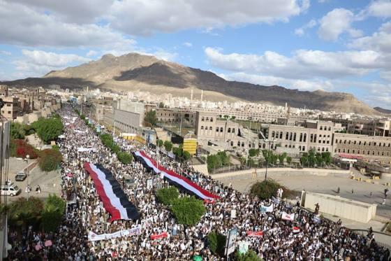 Demo Rakyat Yaman Protes Larangan Haji dan Pembantaian Rakyat Yaman oleh Saudi