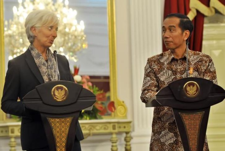 Dir IMF dan Jokowi