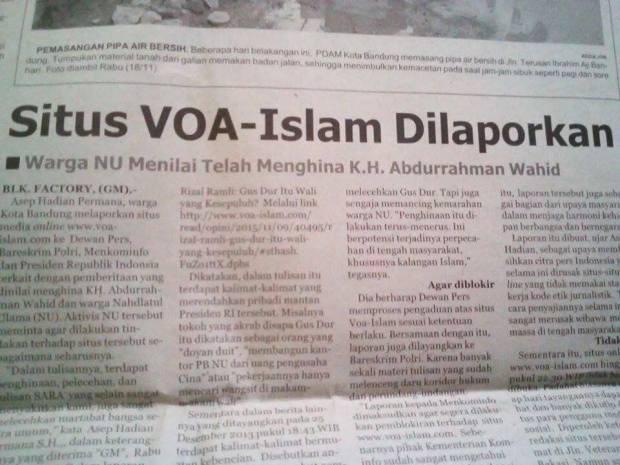 Situs radikal Voa-Islam