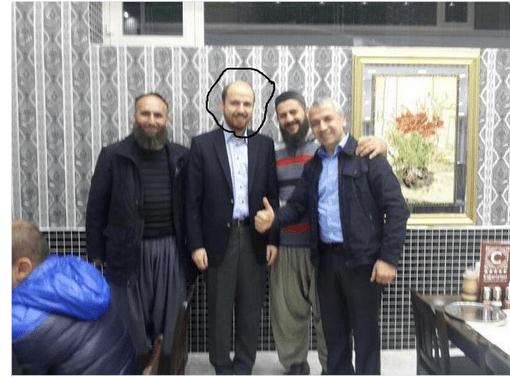 Bilal Erdogan bersama pemimpin dan anggota ISIS