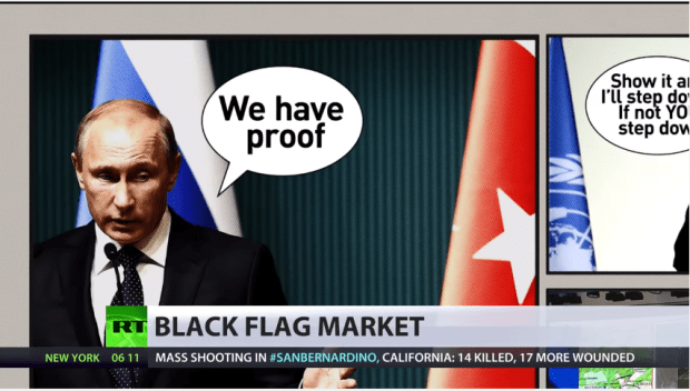 putin anda black flag erdogan