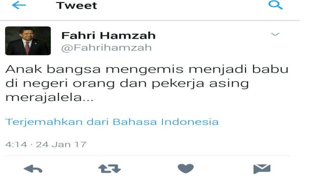 fahri-hamzah-hina-buruh
