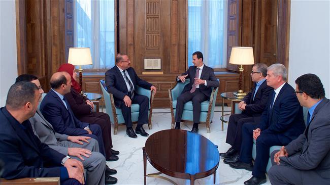 Perteuan_Assad_Dengan_Delegasi_Tunisia