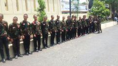 Banser di Mapolda Lampung