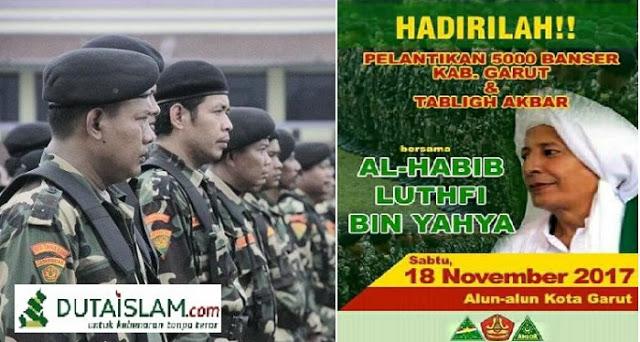 Habib Lutfi bin Yahya Lantik 5000 Banser di Garut