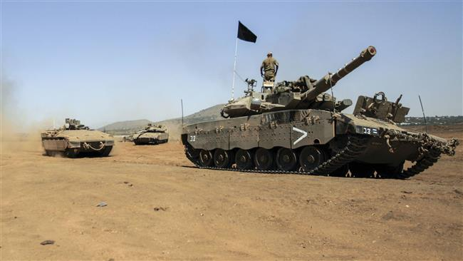 Tank Israel Target Pos Militer Suriah di Dataran Tinggi Golan