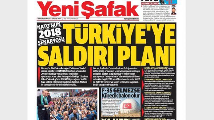 Yeni Şafak: NATO Berencana Serang Turki di 2018