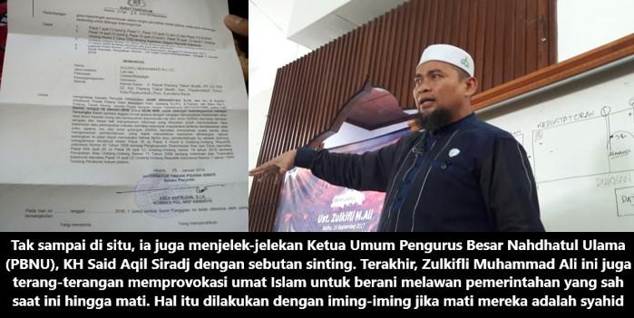 Polisi Resmi Tetapkan Ustadz Zulkifli Muhammad Ali Tersangka Kasus SARA & Ujaran Kebencian
