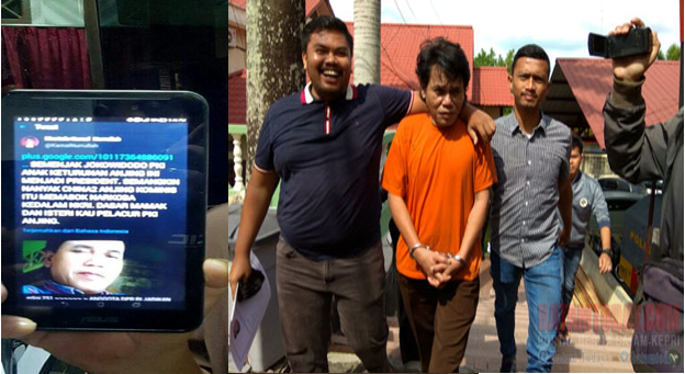 "Polres Tanjung Pinang Tangkap Wartawan yang Sebut Iriana Jokowi ""Pelacur Betina PKI"""