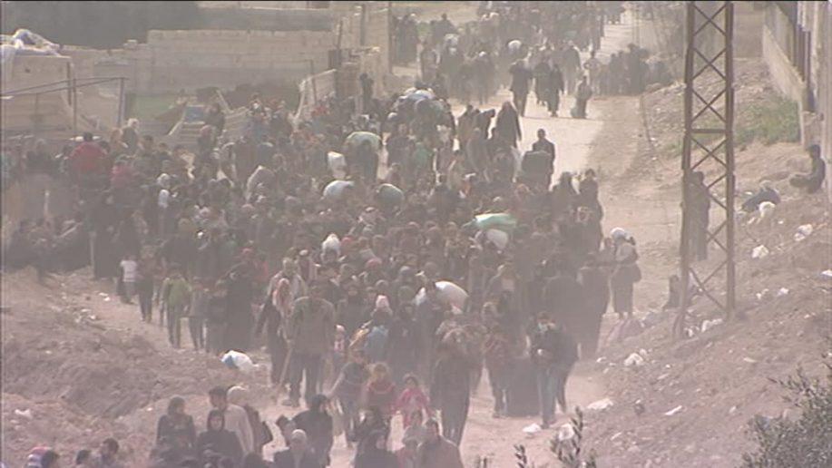 VIDEO: Tentara Suriah Bebaskan Belasan Ribu Warga Sipil yang Terjebak di Ghouta Timur