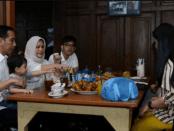 Jokowi makan bersama keluarga