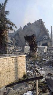 Pusat_Penelitian_Kanker_Suriah_Tinggal_Puing_Puing