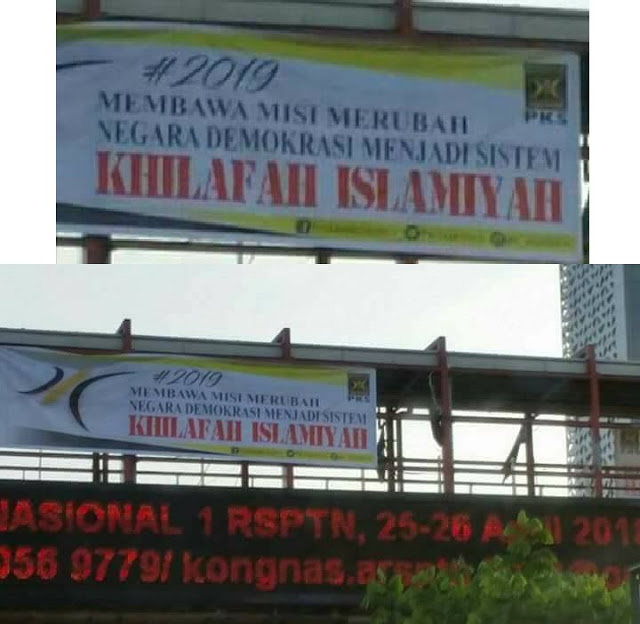 Spanduk PKS Bawa Misi Ganti Demokrasi dengan Khilafah Islamiyah Bertebaran di Kota Depok